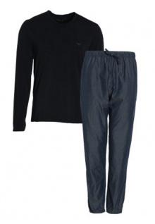 Emporio Armani Herren Loungewear/Schlafanzug lang blue, 111709 Größe S