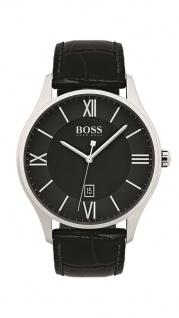 Hugo Boss Herren Uhr Governor Leder schwarz, 1513485