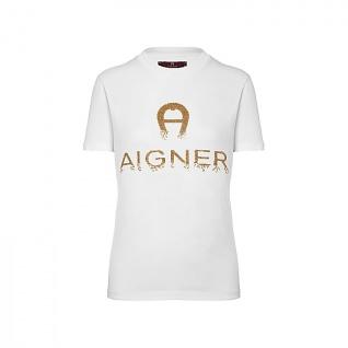 Aigner T- shirt weiß, 252009 Größe L
