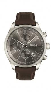 Hugo Boss Herren Uhr Grand Prix Leder dunkelbraun, 1513476