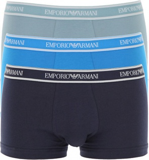 Emporio Armani 3er Set Trunk, Marine/ Blau/ Grün 111357 Größe M