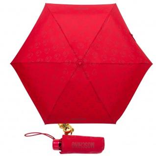 """Moschino Taschenschirm """" Monobear"""" Supermini mit Teddy Charm, Red"""
