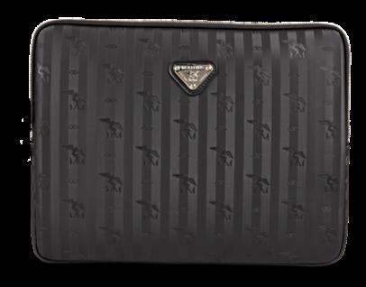 Maison Mollerus Vinerus Black Laptoptasche, Roeti Silber