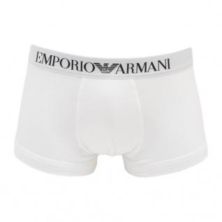 Emporio Armani, Herren Basic Stretch Cotton Trunk CC 518 weiss