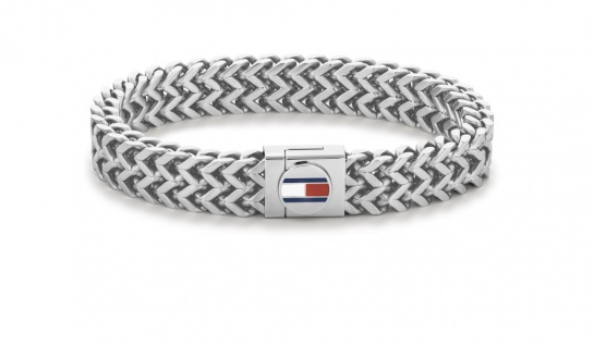 Tommy Hilfiger Armband Casual Herren, Silber 2790245