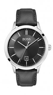 Hugo Boss Herren Uhr Officer Leder schwarz, 1513611