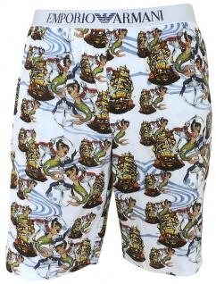 Emporio Armani Herren Bermuda Shorts, Weiß 111004 Gr.XL