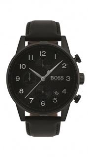 Hugo Boss Herren Uhr Navigator Leder schwarz, 1513497