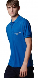 Lacoste Herren Polo-Shirt Slim Fit Uni, laser/boreal Größe 7