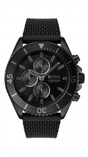 Hugo Boss Herren Uhr Ocean Edition Chrono - Athleisurel Silikon Schwarz, 1513699