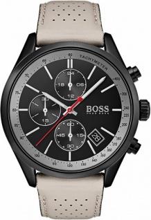 Hugo Boss Herren Uhr Chronograph Leder beige, 1513562