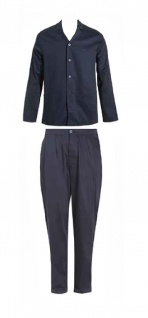 Emporio Armani Herren Pyjama / Schlafanzug long. Marine 111737