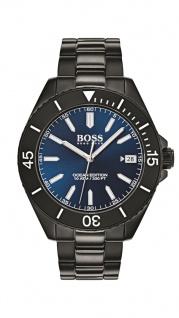 Hugo Boss Herren Uhr Ocean Edition Edelstahl schwarz, 1513559