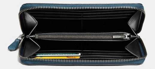 Coach Portemonnaie mit Zip, blau, 59387 - Vorschau 3