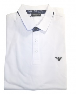 Emporio Armani Herren Polo Shirt, Weiß 211804