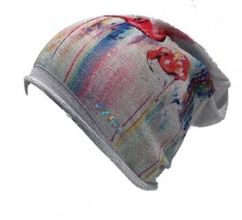 Norton Beanie / Mütze mit Flamingo Print grau, 2203