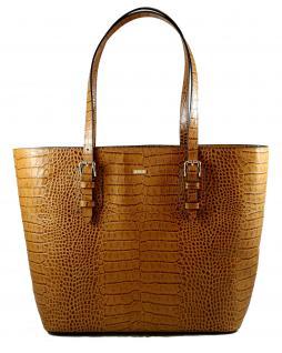 Armani Collezioni Leder Shopper 926007, Light Brown - Vorschau 1