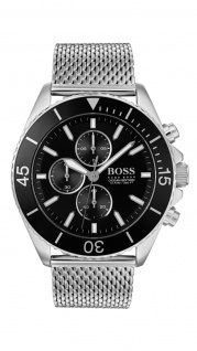 Hugo Boss Herren Uhr Ocean Edition Chrono - Athleisurel Edelstahl Silber, 1513701