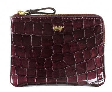 Braun Büffel Geldbörse / Schlüsseletui Verona Glanzkroko Bordeaux, 40012