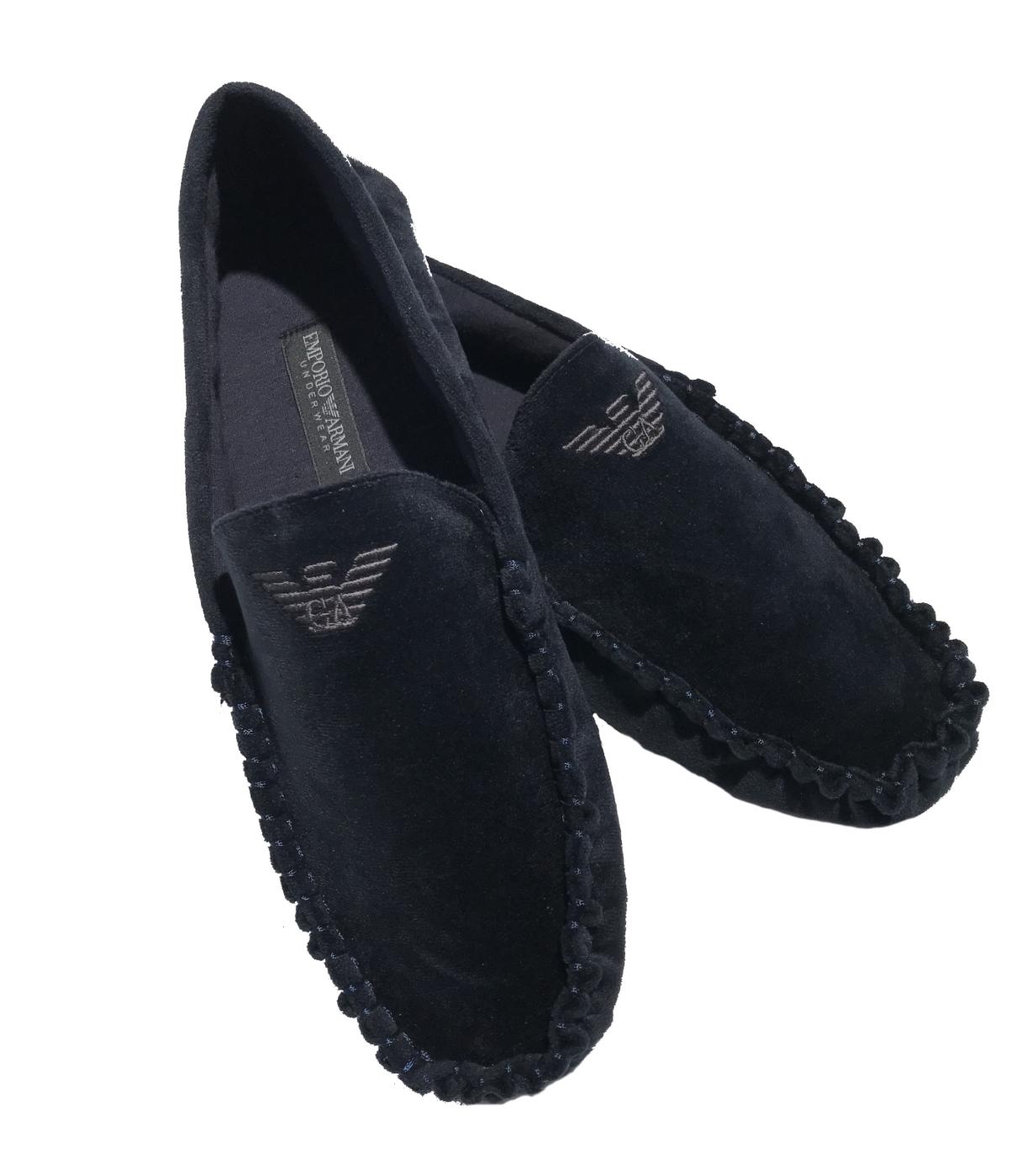 Emporio Armani Homeslipper   Hausschuhe dunkelblau-Schuh Größe 41