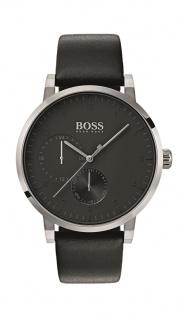 Hugo Boss Herren Uhr Oxygen Leder schwarz, 1513594