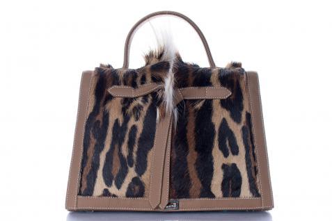 Marquise Paris Handtasche Leder mit Echtfell