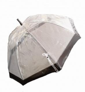 Happy Rain Stockschirm transparent schwarz, 40973 - Vorschau 1