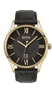 Hugo Boss Herren Uhr Governor Leder schwarz, 1513554
