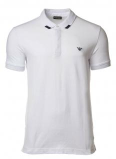 Emporio Armani Herren Polo Shirt, Weiß 211804 Gr. M