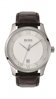Hugo Boss Herren Uhr Master Leder braun, 1513586