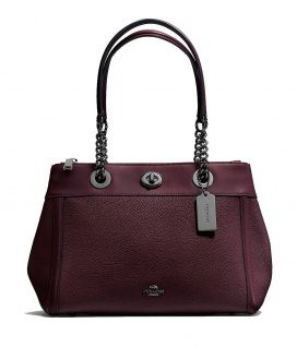 Coach Handtasche Turnlock Edie Carryall, Bordeaux 87239