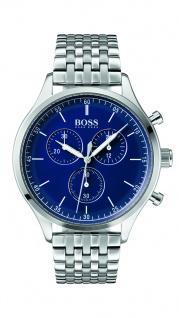 Hugo Boss Herren Uhr Companion Edelstahl, 1513653