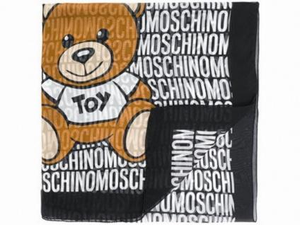 Boutique Moschino Tuch All Over Print, Schwarz