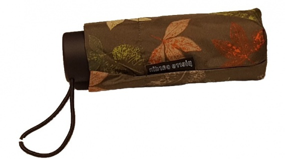 Pierre Cardin Mini Taschenschirm, Indian Summer / Olivgrün
