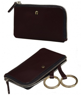 Aigner Schlüssel-Etui mit RV, 153533 ebony/dunkelbraun