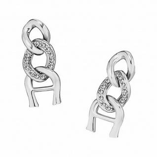 Aigner Ohrringe mit Kristallen, silber, A69019