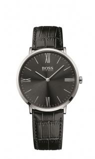 Hugo Boss Herren Uhr Jackson Leder schwarz, 1513369