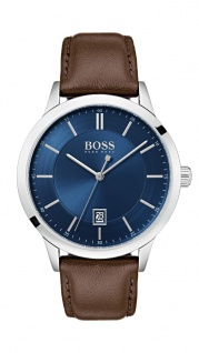 Hugo Boss Herren Uhr Officer Leder braun, 1513612