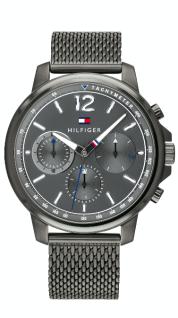 Tommy Hilfiger Herren Uhr Edelstahl grau, 1791530