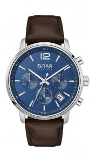 Hugo Boss Herren Uhr Attitude Leder braun, 1513606