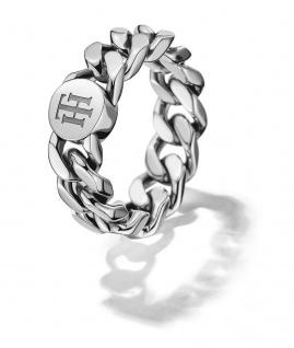 Tommy Hilfiger Classic Signature Ring Edelstahl, 2700966 Ringgröße 56