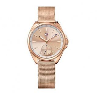 Tommy Hilfiger Damen Uhr Edelstahl ros&eacutesemikgold, 1781756