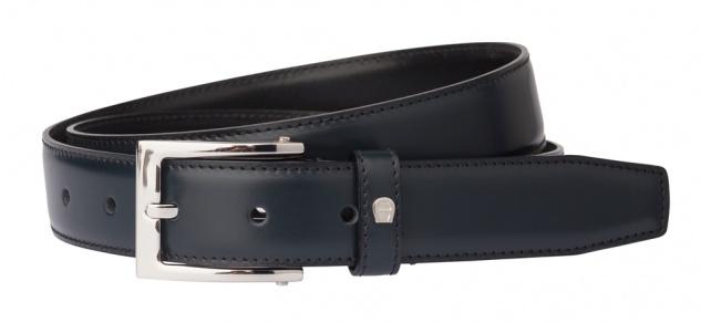 Aigner Gürtel Basic mit S-Schließe silber 125626 blau