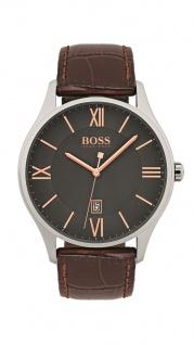 Hugo Boss Herren Uhr Governor Leder braun, 1513484