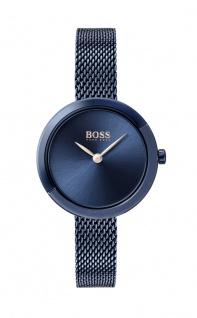 Hugo Boss Damen Uhr Ophelia Edelstahl Blau, 1502497