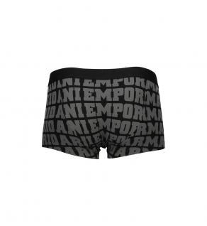 Emporio Armani Basic Stretch Cotton Trunk, Nero Stampato, Größe S - Vorschau 2