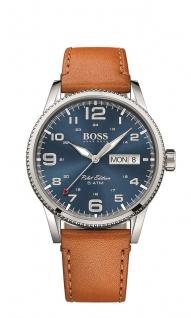 Hugo Boss Herren Uhr Pilot Leder cognac, 1513331