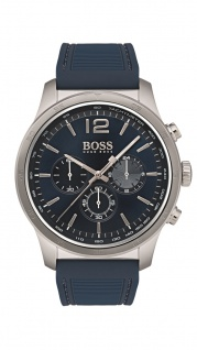 Hugo Boss Herren Uhr Professional Silikon blau, 1513526