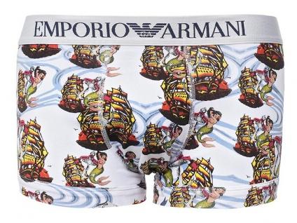Emporio Armani Trunk Seemannsprint, bianco stampato Größe M - Vorschau 1