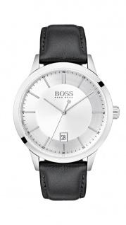 Hugo Boss Herren Uhr Officer Leder schwarz, 1513613